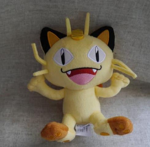 New Pokémon Go Tomy Pokémon plush stuffed animal Meowth 8 doll