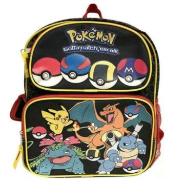 "Go Pikachu Backpack 16"" Full Size School Bag"