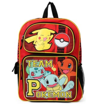 Pikachu Charmander and Squirtle Backpack School Bag
