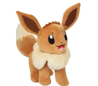 """Pokemon Pokeball and 8"""" Eevee Plush Stuffed Animal Toy - Set of 2"""