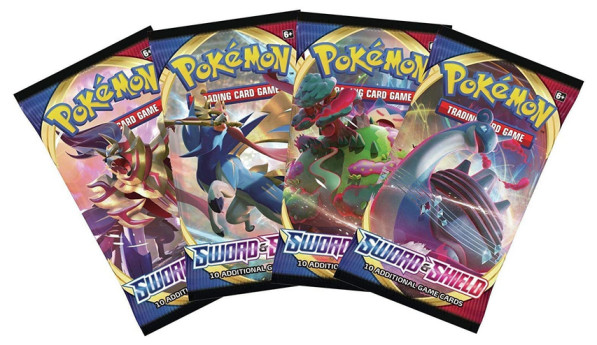 Pokémon Sword and Shield - Booster Pack Lot - 4 Sealed Packs