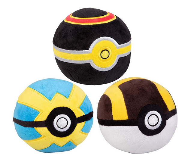 Pokemon pokeball plush multi-colored
