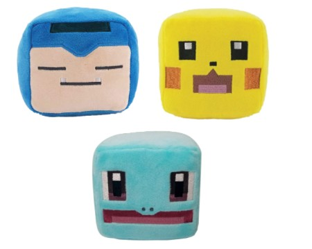 Pokemon Quest Plush 3 Pack, Featuring Pikachu, Snorlax Plush, Squirtle Plush Toys