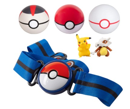 Pokemon Pokeball Figure  Pokémon Clip 'N' Go Belt Set with 3 Poké Balls & 2 Figures
