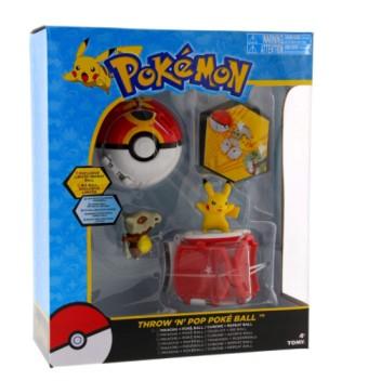Tomy Pokemon Throw 'N' Pop Duel Pikachu Pokeball