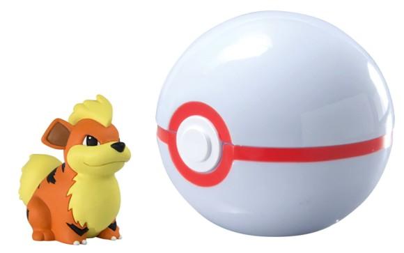 Pokémon Clip And Carry Poké Ball, Growlithe And Premier Ball
