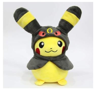 Pokemon Cloak Pikachu Eevee Plush Toy 30Cm,Sylveon Leafeon Espeon Vaporeon Stuffed Lovely Doll Hobby Collectible Pkm Toy Plush Toy
