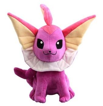 CushionsHome Anime Purple Color Vaporeon Shiny Plush Toy Pikachu Cute Soft Pillow Stuffed Dolls for Kids Birthday
