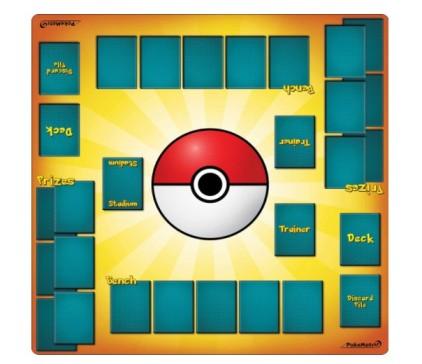 PokéMats 2 Player Trainer Playmat for Pokemon Trading Card Game